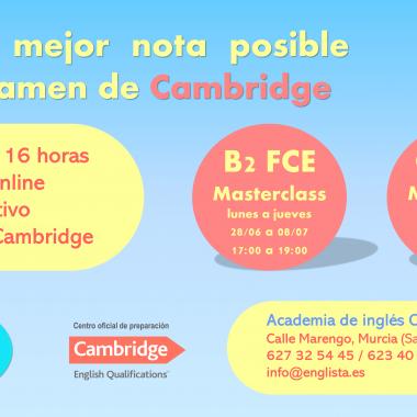 CURSO INTENSIVO DE VERANO B2 Y C1 CAMBRIDGE